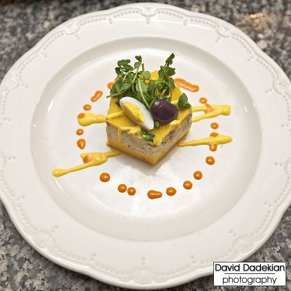 the completed Jonah Crabmeat Causa