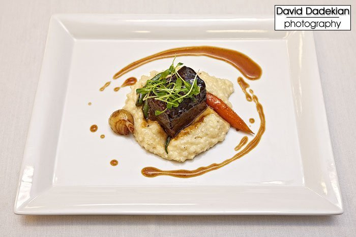 Ribs with Grits—Braised Beef Short Ribs, Anson Mills White Corn Grits