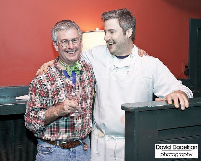 New Rivers' Chef/Owner Bruce Tillinghast with Executive Chef Beau Vestal