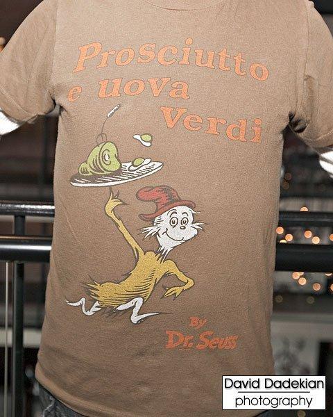 Prosciutto e Uova Verdi t-shirt