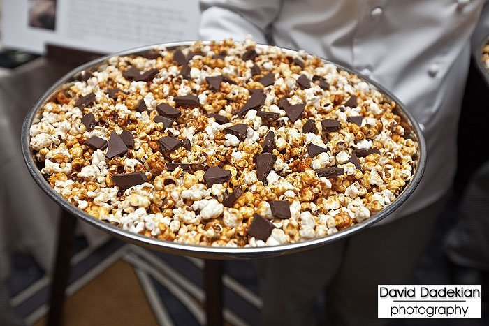Chef Margate's caramel popcorn made with Mangalitsa fat and tossed with Vosges chocolate with bacon