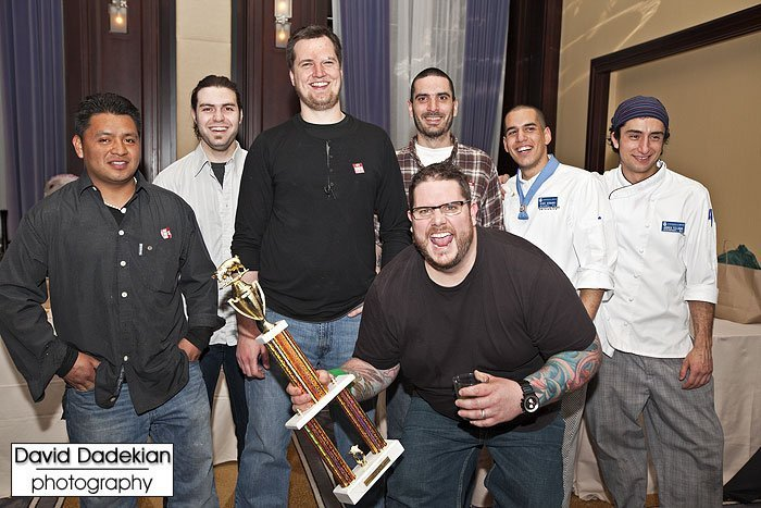 Chef Jennings with his team