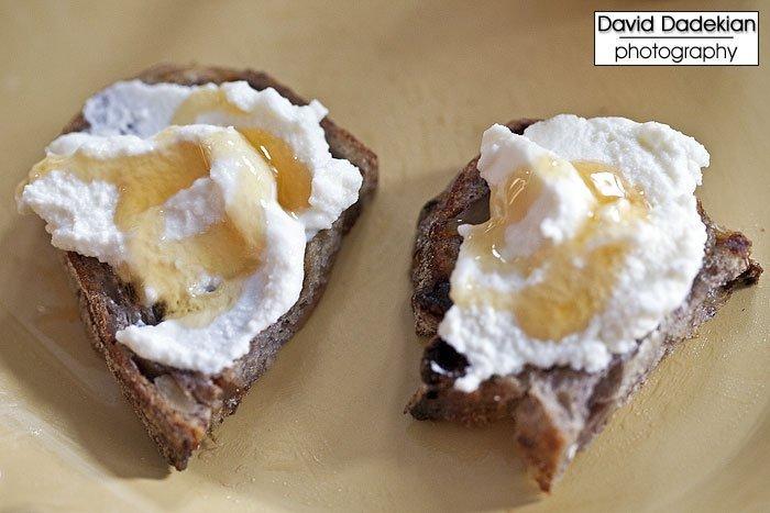 Narragansett Creamery Ricotta with honey