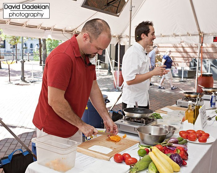 Cooking demonstration with Trinity Rep's Artistic Director Curt Columbus and Nick's on Broadway's Chef Derek Wagner