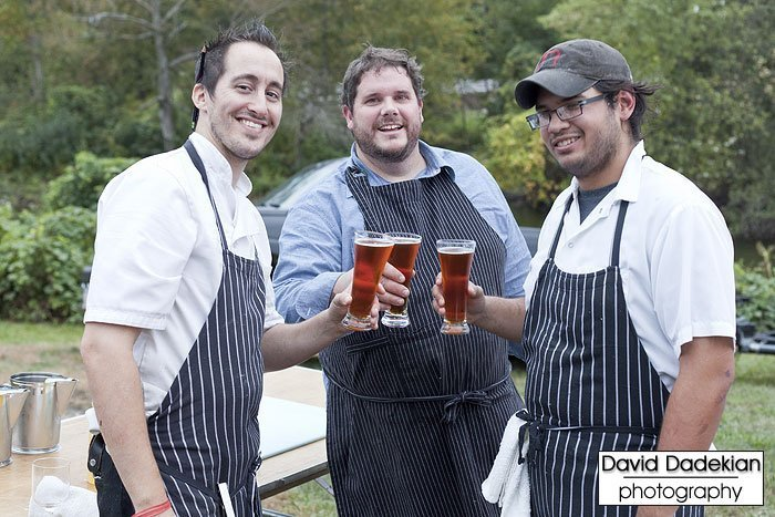 Derek and James from Nick's on Broadway with Chef Matt Jennings from Farmstead / La Laiterie