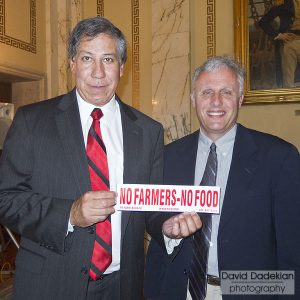 USDA Under Secretary for Marketing & Regulatory Programs Edward Avalos with RI DEM Chief of Agriculture Ken Ayars