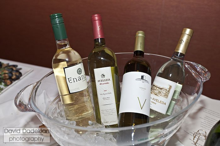 Sampling of wine offered at Gracie's Winter Wines of the World event