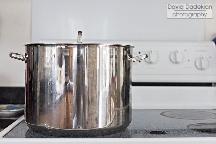 A 16-quart stock pot, because you need the space for the trotters