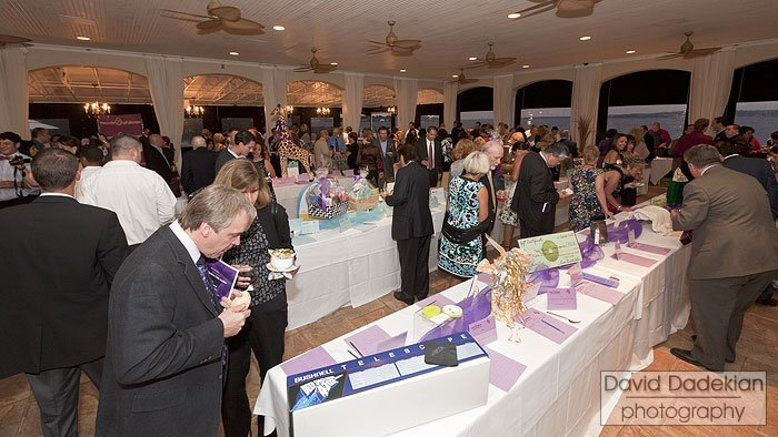The silent auction portion of the evening
