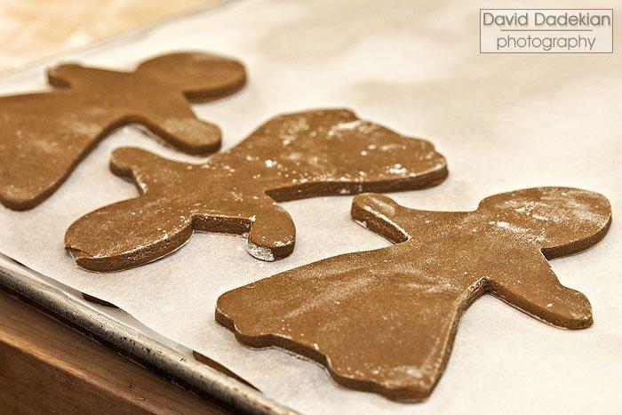 Cut out gingerbread women