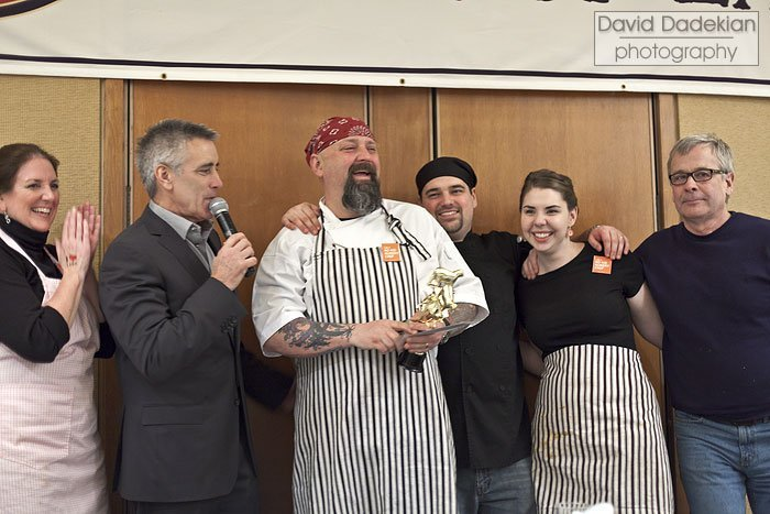 Chef Alberg with his team from The Red Lion Inn