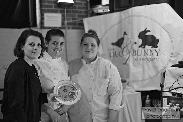 First place winners from The Duck & Bunny, from left to right: Jessica Becker, Renee Frechette and Brandy Schwalbe