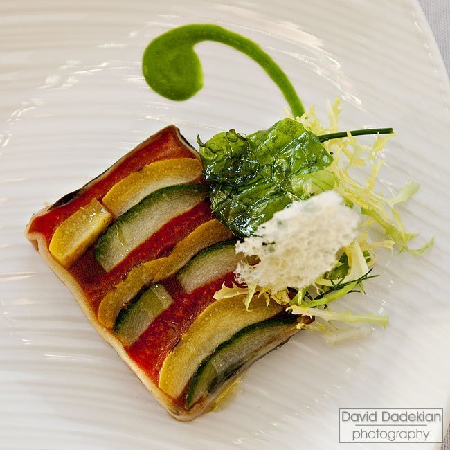 Terrine of Ratatouille by Hourglass Brasserie's Rizwan Ahmed