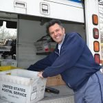 Lincoln letter carrier Dave Casale, an actively participant in the food drive for many years. Photo courtesy RI Community Food Bank